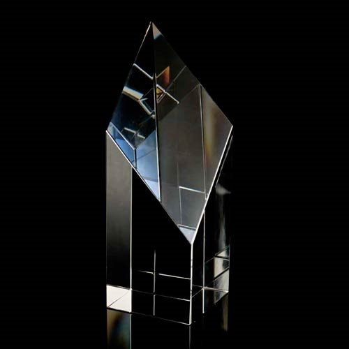 Optical crystal slice diamond award